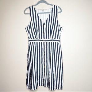 J crew Stripe blue dress